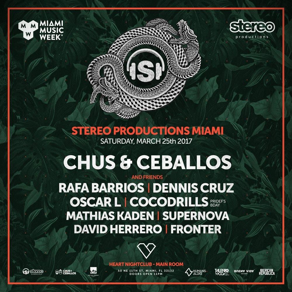 Stereo Productions w/ Chus & Ceballos (1am entry)